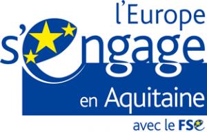 logo fond européen en nouvelle aquitaine